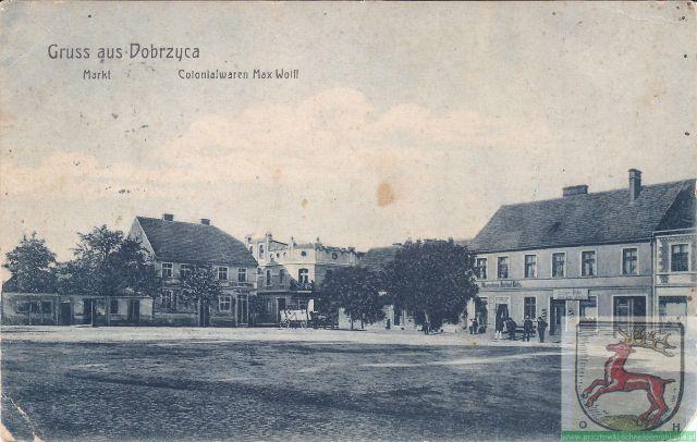 Dobrzyca Colonialwaren Max Wolff Markt  Dobrzyca Rynek 05.09.1912r.