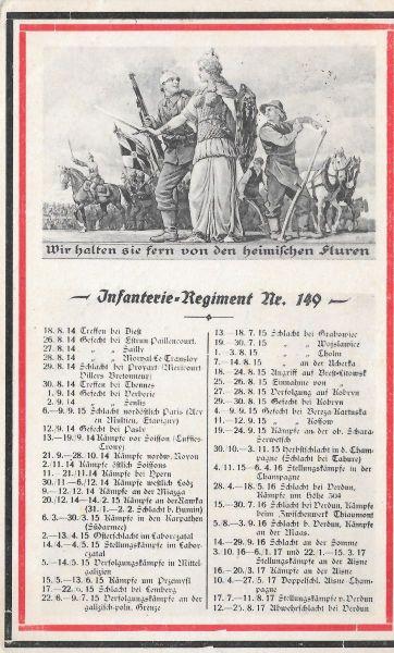 Infanterie Regiment Nr 149