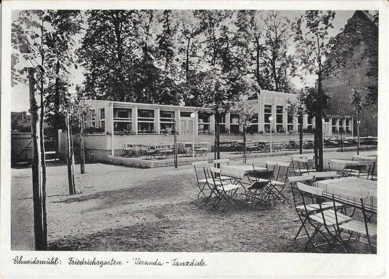 Schneidemühl: Friedrichsgarten - Veranada - Tanzdiele