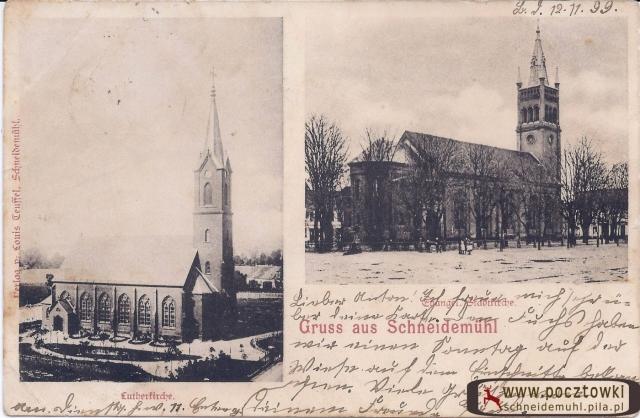 Lutherkirche, Stadtkirche kościół św. Stanisława Kostki , kościół miejski14.11.1899 rok