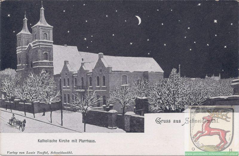 Katcholische Kirche mit Pfarrhaus