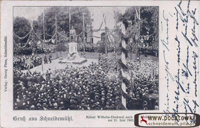 Uroczystość odsłonięcia pomnika Wilhelma