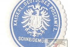Kaiserlich Deutsches Postamt 1. Schneidemüh