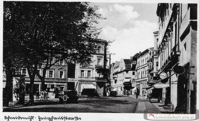 Zeughausstraße mit Hakenkreuz 1 Maja, pl. Konstytucji 3 Maja ze swastyką