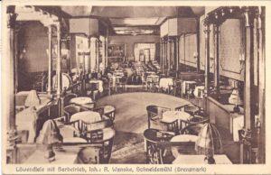 Löwendiele mit Barbetrieb, Inh.: R. Wanske, Schneidemühl (Grenzmark) 16/8/1931