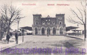 Bahnhof Haupteingang, Dworzec, główne wejście, 11.6.1908