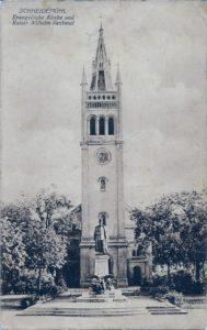 Evangelische Kirche und Kaiser Wilhelm Denkmal 03/12/1924?