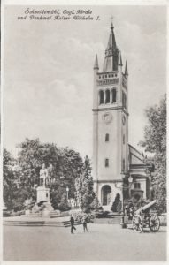 Schneidemühl Ev. Kirche Denkmal Kaiser Wilhelm