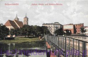 Kathol. Kirche und Kuddow-Brucke Kościół św. Janów i fabryka mebli 31.10.1919