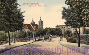 Partie an der Küddowbrücke Kościół św. Janów 10.3.1908