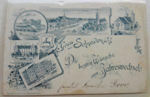 Gruß aus Schneidemühl Die besten Wünsche zum Jahreswechsel 1.1.1898