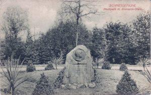 1915, Stadtpark m. Bismarck-Stein