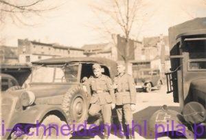Wehrmacht, PKW, Parkplatz, Bismarckschule, Schneidemühl