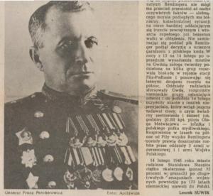 Leszka Suwik, 14 lutego 1945 Piła była wolna! Mroźną zimą przyszła wolność, Piła mówi, 14.02.1985, s. 2