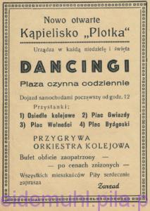 Dancing - ogłosznie w: Piła Mówi, 7 lipca 1946, Rok 1, nr 1, str. 14