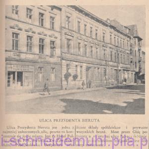 Ulica prezydenta Bieruta w: Piła Mówi, 3 listopada 1946 roku, rok 1, nr 8 (9 10), str. 3.
