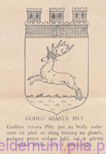 Herb Piły, w: Piła Mówi, 3 listopada 1946, nr 8 (9 10), rok 1, str.1