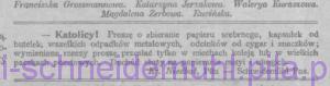 Ogłoszenie, w: Przewodnik katolicki, 28 września 1913r., nr 39, rok XIX, str. 313