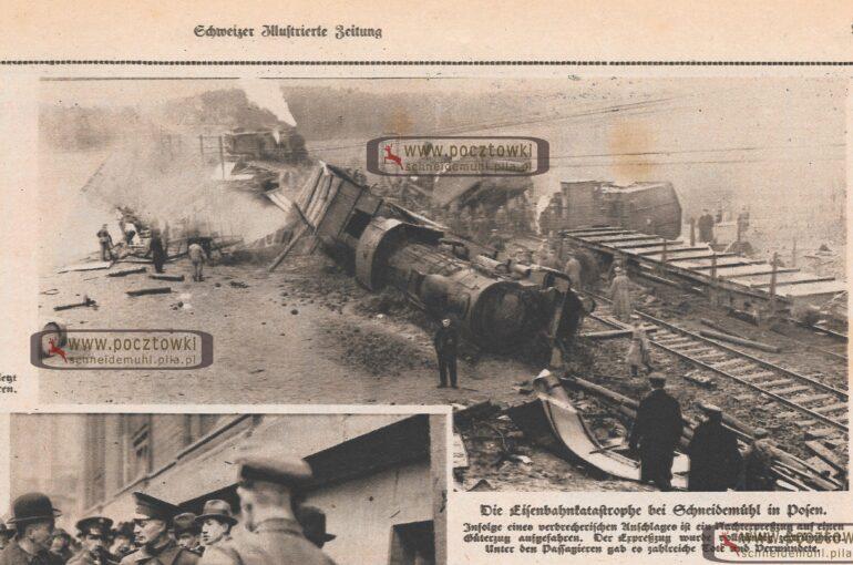 Wypadek pociągu w Pile