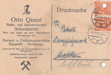 Otto Quast Schneidemühl