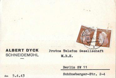 Albert Dyck Schneidemühl